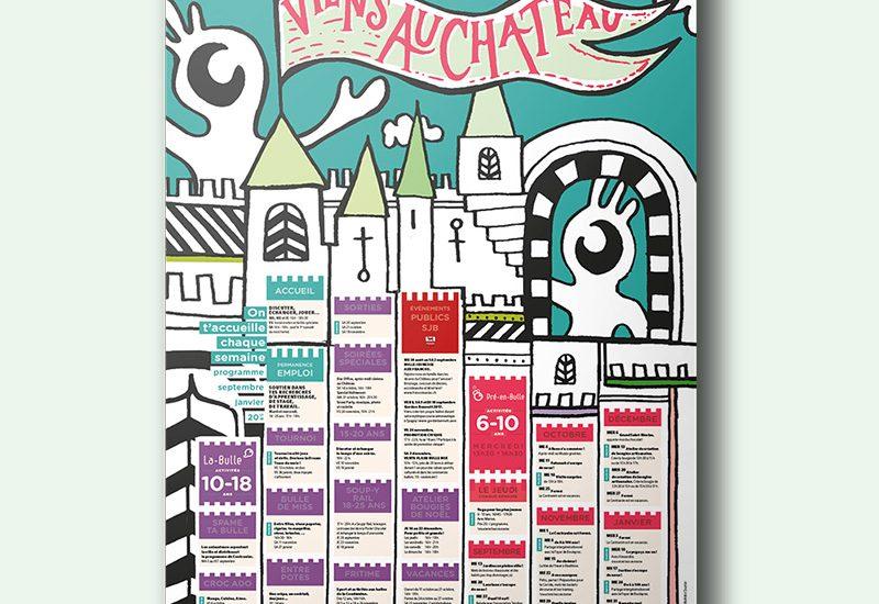 Affiche programme centranim ville de bulle