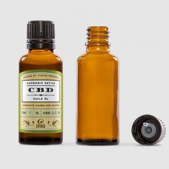 Etiquettes packaging bouteille CBD chanvre-info cannabis sativa