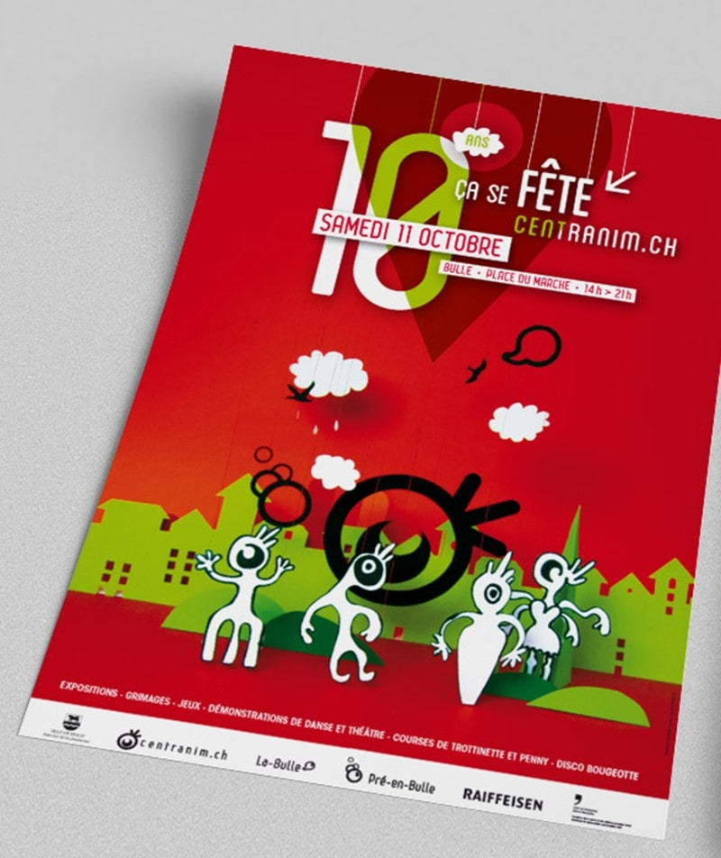 flyer graphisme centranim Bulle