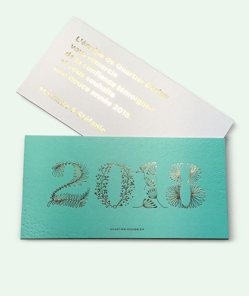 Lettering pour carte de voeux