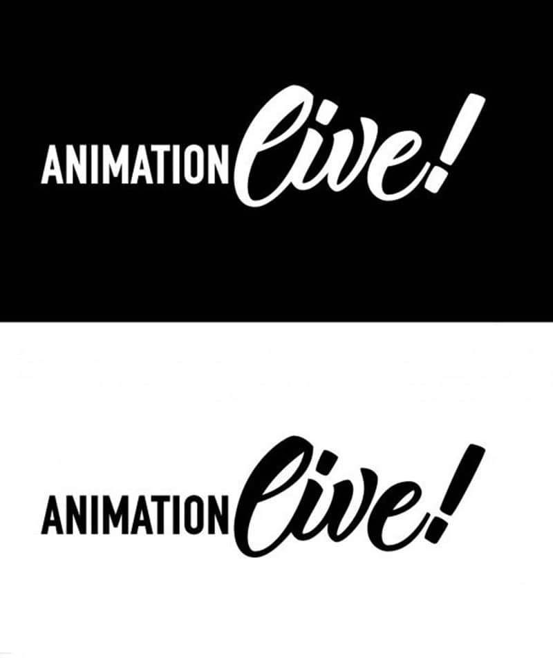 Logotype animation live lettering