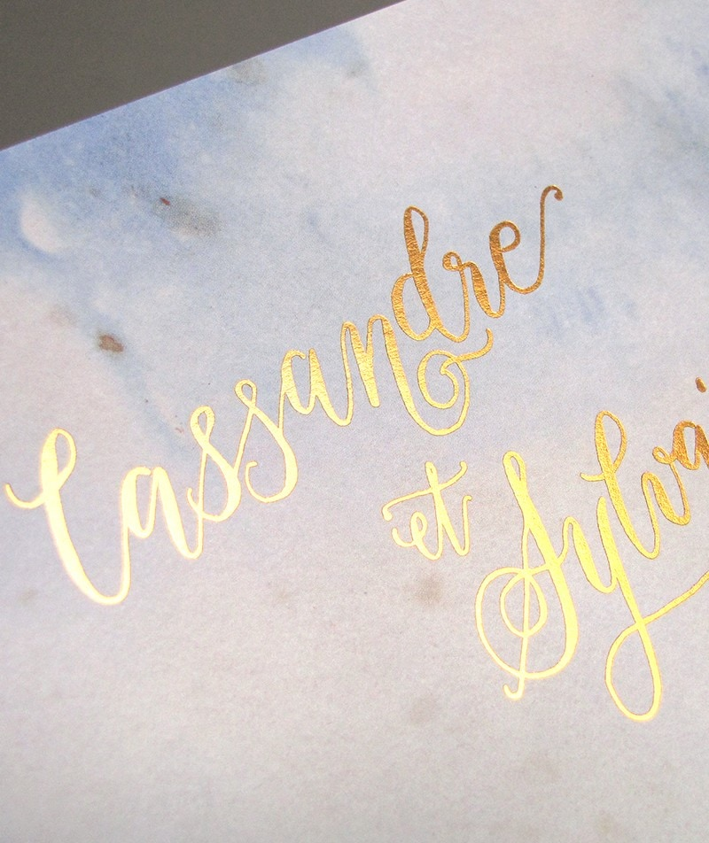Faire-part de mariage calligraphie lettering Fribourg