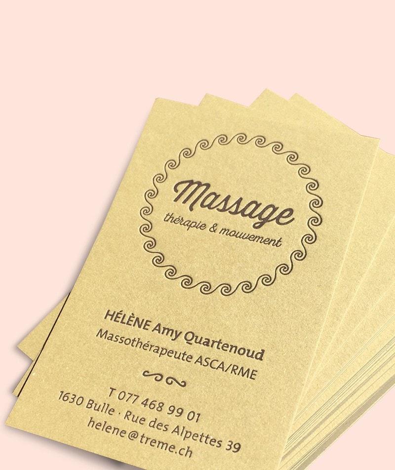 carte de visite massage Fribourg