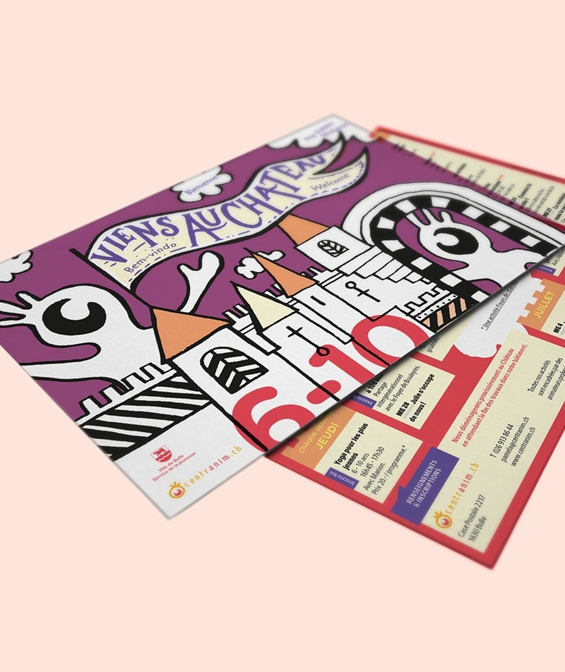 flyer illustration graphisme centranim Bulle