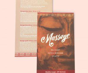 Lettering pour logotype et flyer massage calligraphie