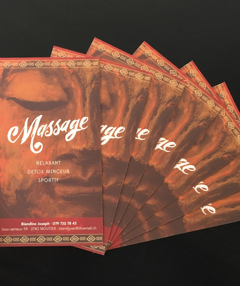logotype et flyer massage calligraphie