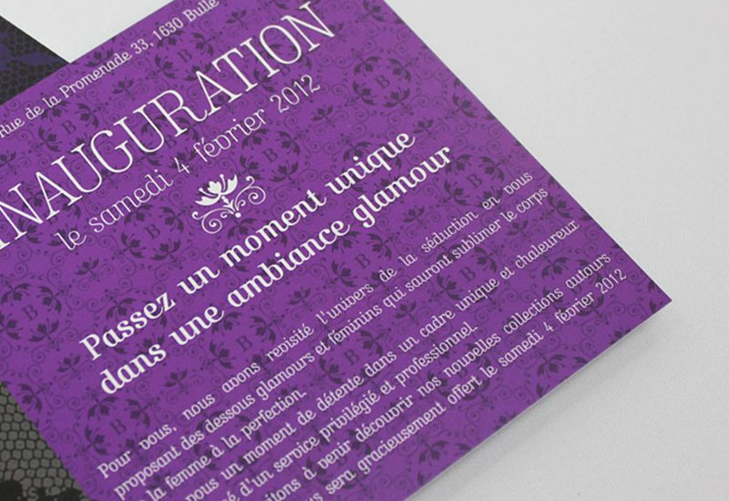 flyer invitation le boudoir lingerie logotype