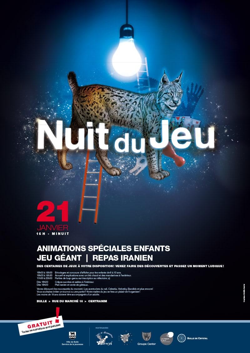 Affiche nuit du jeu bulle lynx