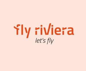 Logo Flyriviera identité visuelle