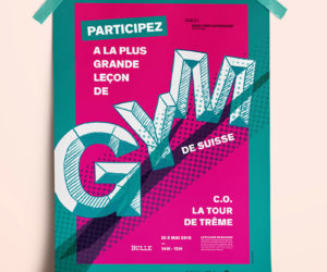 Affiche graphisme gym bulle